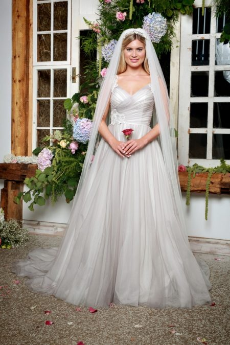 North Wedding Dress in Dove Grey - Amanda Wyatt She Walks with Beauty 2017 Bridal Collection