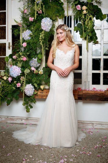 Paola Wedding Dress in Champagne - Amanda Wyatt She Walks with Beauty 2017 Bridal Collection