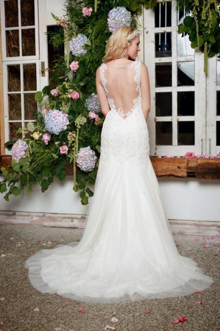 Back of Paola Wedding Dress in Ivory - Amanda Wyatt She Walks with Beauty 2017 Bridal Collection