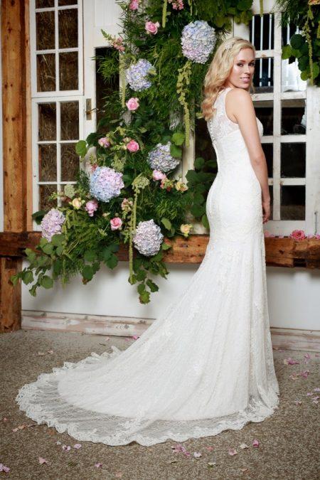Back of Sadie Wedding Dress - Amanda Wyatt She Walks with Beauty 2017 Bridal Collection