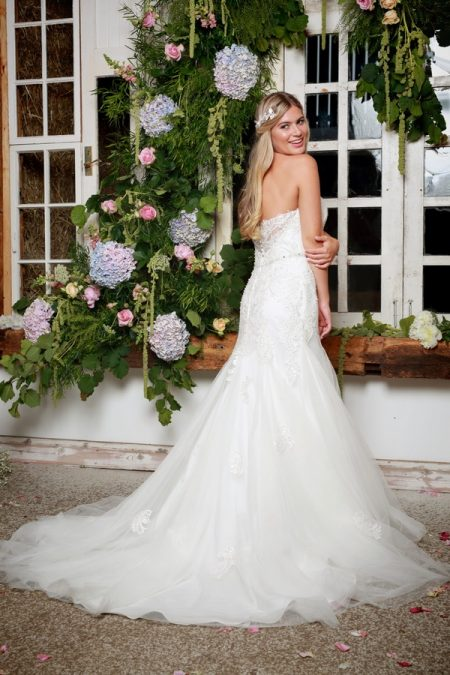 Back of Sage Wedding Dress in Ivory - Amanda Wyatt She Walks with Beauty 2017 Bridal Collection