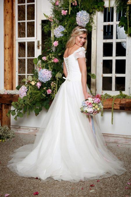 Back of Springtime Wedding Dress - Amanda Wyatt She Walks with Beauty 2017 Bridal Collection