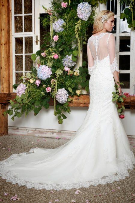 Back of Winter Wedding Dress - Amanda Wyatt She Walks with Beauty 2017 Bridal Collection