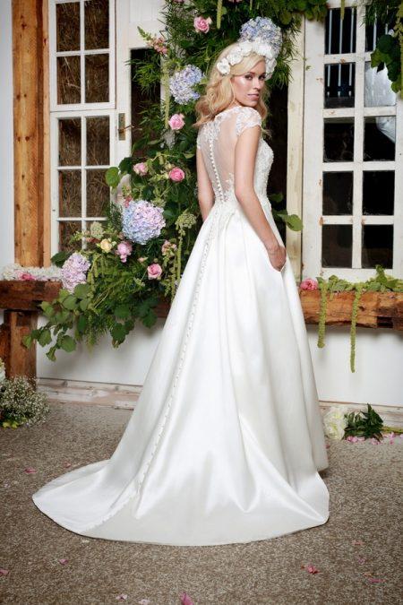 Back of Wren Wedding Dress - Amanda Wyatt She Walks with Beauty 2017 Bridal Collection