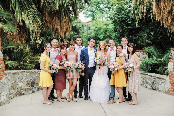 Katie Leclerc and Brian Habecost with wedding party