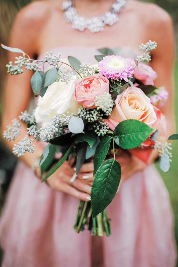 Colourful bridesmaid bouquet