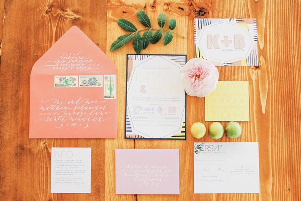Katie Leclerc and Brian Habecost's wedding stationery
