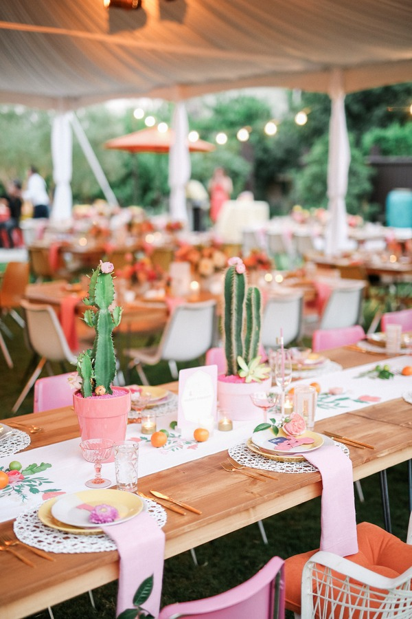 Cactus on wedding table