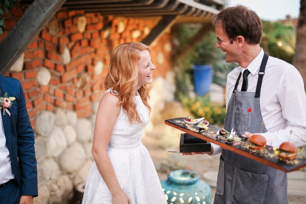 Katie Leclerc laughing at wedding
