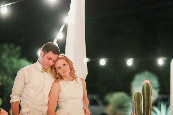 Katie Leclerc and Brian Habecost at wedding
