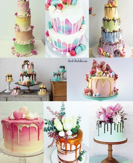 Ganache Drip Wedding Cakes