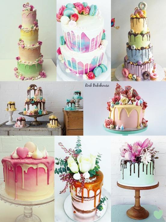 Ganache Drip Wedding Cakes Mood Board
