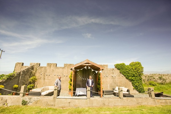 Outdoor ceremony space at BoHo Cornwall