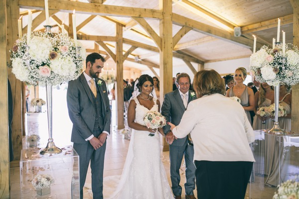 Colshaw Hall wedding ceremony in The Stables