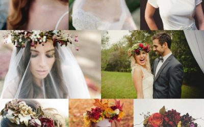 Floral Crowns for Autumn Weddings
