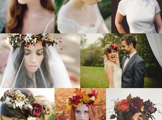Autumn Floral Crowns Mood Board
