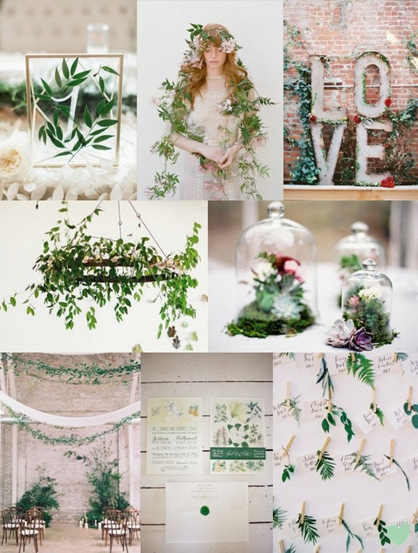 Botanical Wedding Styling Ideas Mood Board