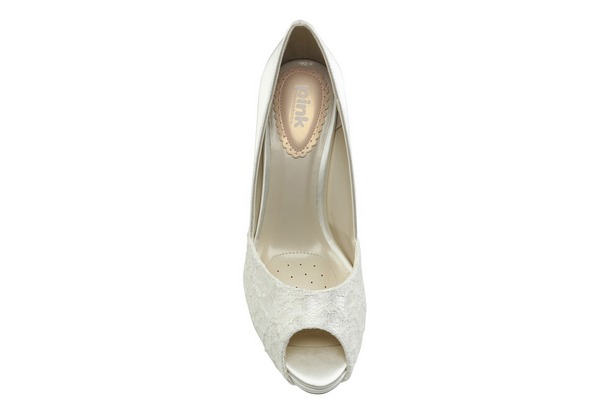 Insole of Fancy Bridal Shoes by Paradox London Pink