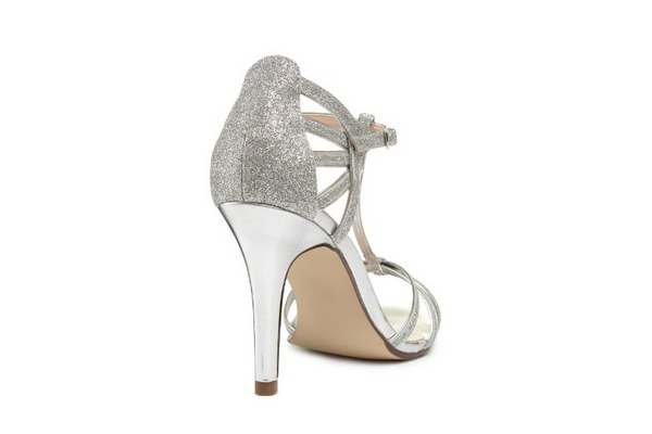 Heel of Phoebe Bridal Sandals by Paradox London Pink