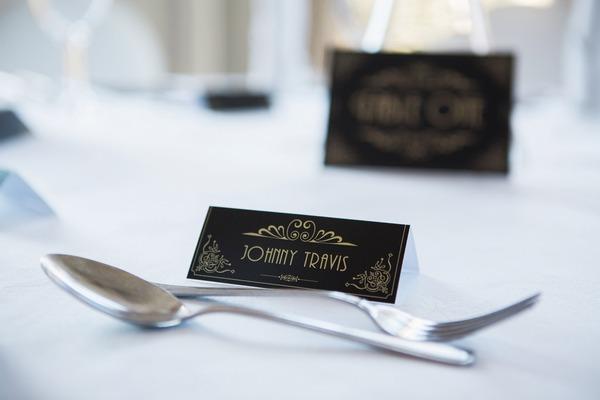 1950s style wedding table name