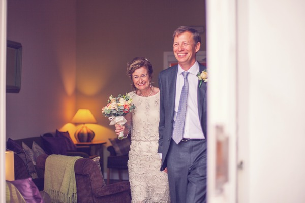 Very happy older bride and groom smiling - Picture by Honeydew Moments