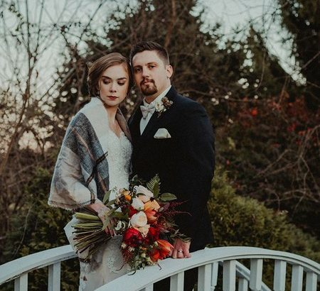 Bride and groom on bridge - Picture by Karlie Rae Photography