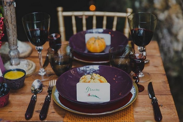 Groom's place setting