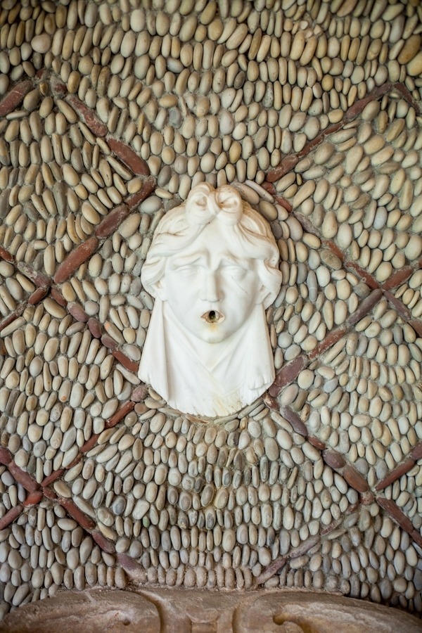 Fountain head coming out of wall