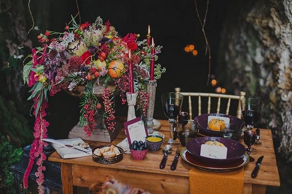 Rustic autumn wedding table
