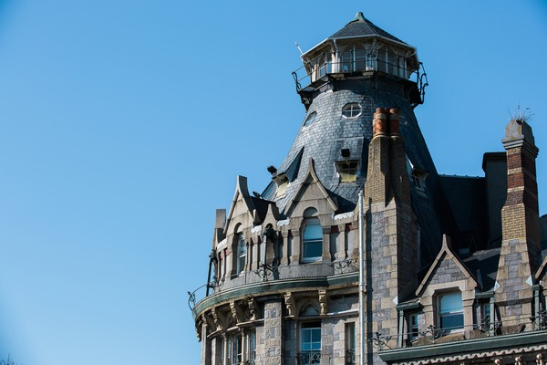 The tower at The Duke of Cornwall Hotel