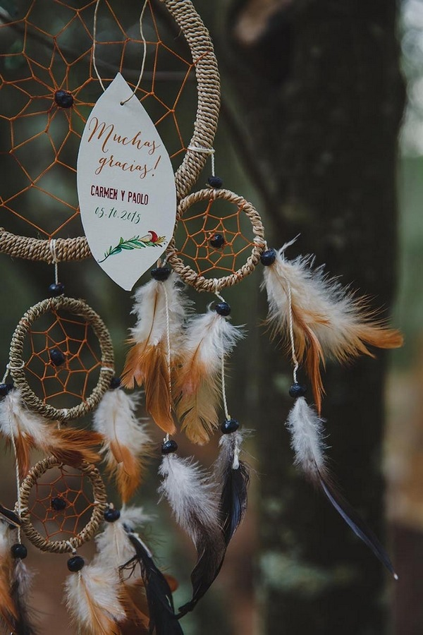 Detail on dreamcatcher