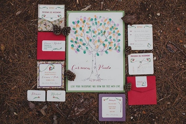 Autumn wedding stationery