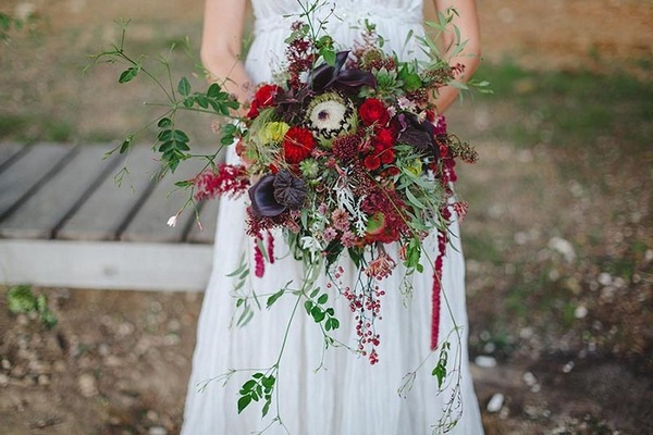 Large rustic autumn wedding bouquet