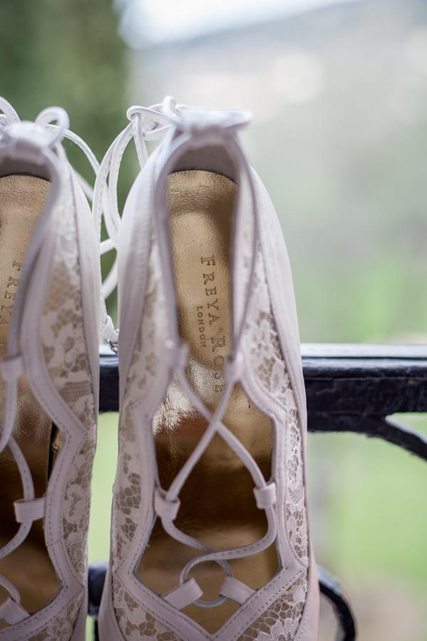 Detail on Freya Rose bridal shoes