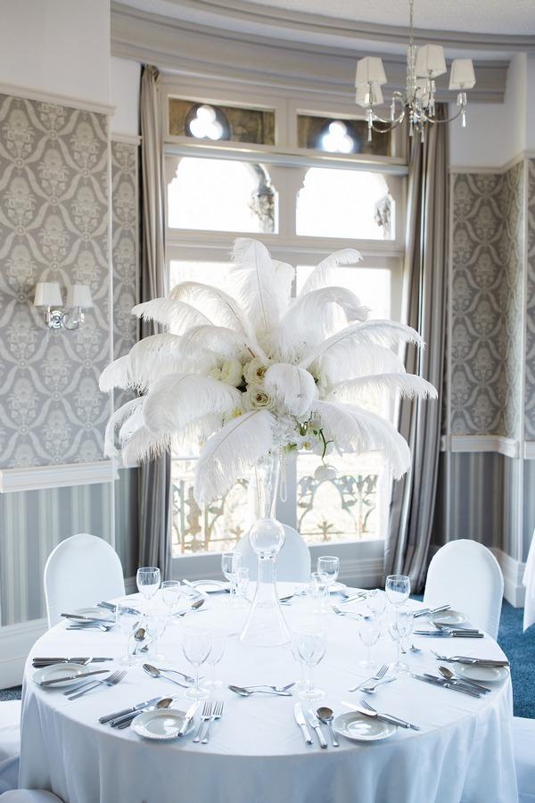 Wedding table display at The Duke of Cornwall Hotel