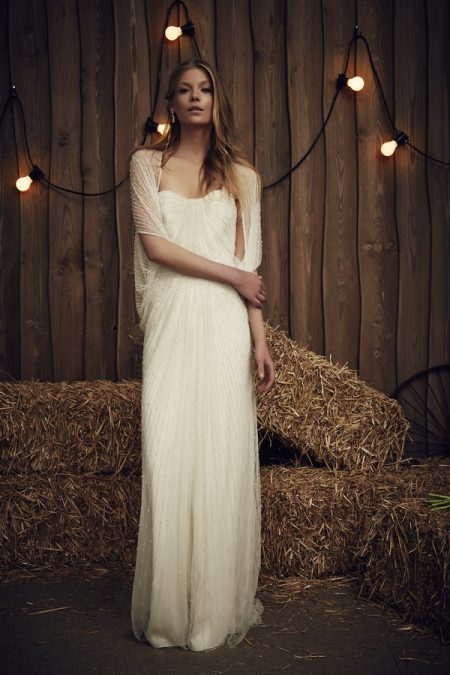 Aries Wedding Dress with Star Jacket - Jenny Packham 2017 Bridal Collection