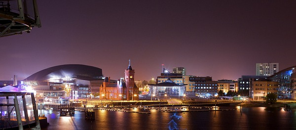Cardiff at Night