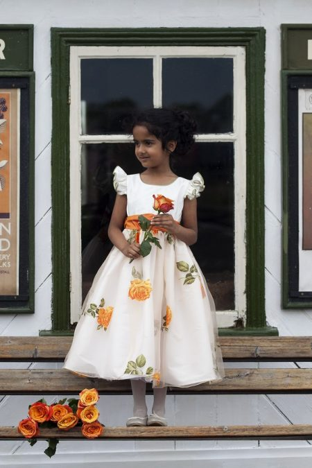 Clementine flower girl dress by Nicki Macfarlane