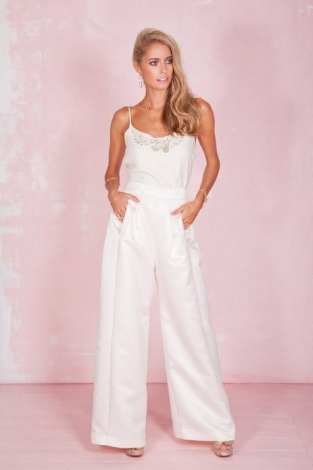 Clover Trouser and Beaded Cami - Belle and Bunty 2017 Bridal Collection