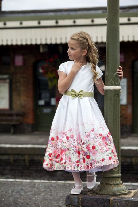 Georgina flower girl dress by Nicki Macfarlane