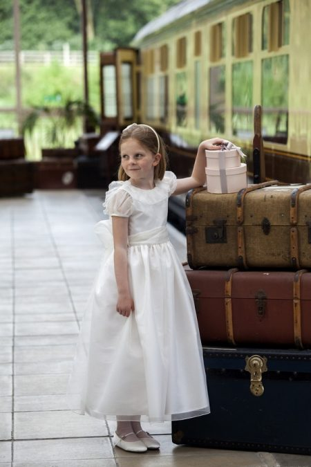 Mirabelle flower girl dress by Nicki Macfarlane