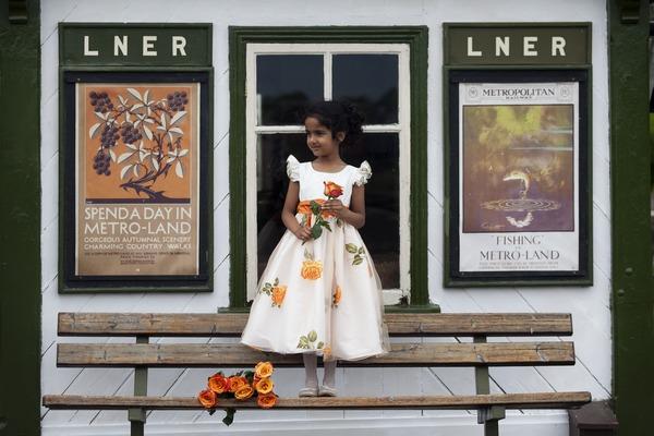 Clementine flower girl dress by Nicki Macfarlane