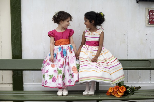 Pandora and Michaela flower girl dresses by Nicki Macfarlane