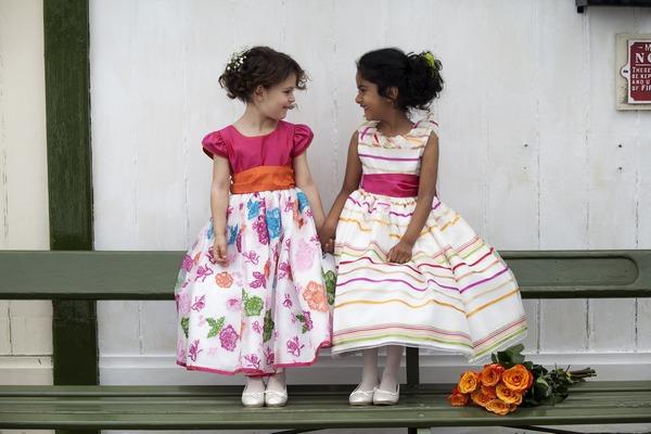 Pandora and Michaela flower girl dresses by Nicki Macfarlane
