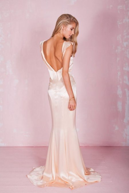 Back of Petal Wedding Dress in Rose - Belle and Bunty 2017 Bridal Collection