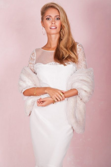 Rosie Wedding Dress with Stole - Belle and Bunty 2017 Bridal Collection