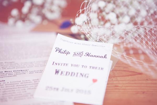 Invitation to West Stoke Farm wedding