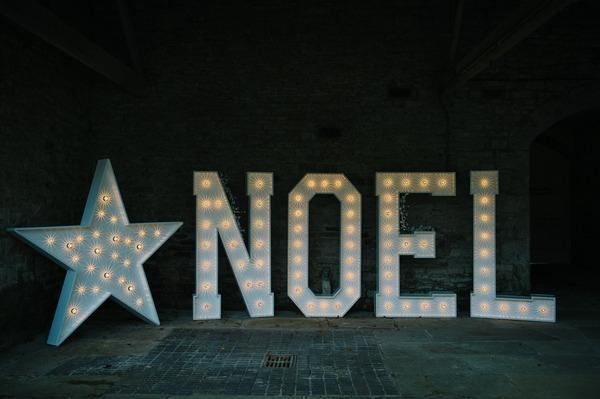 Illuminated NOEL letters