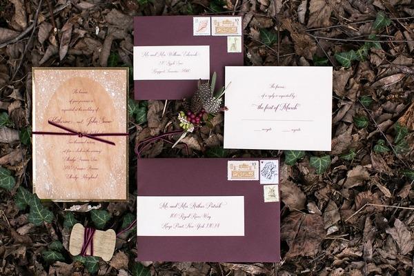 Snow White wedding stationery