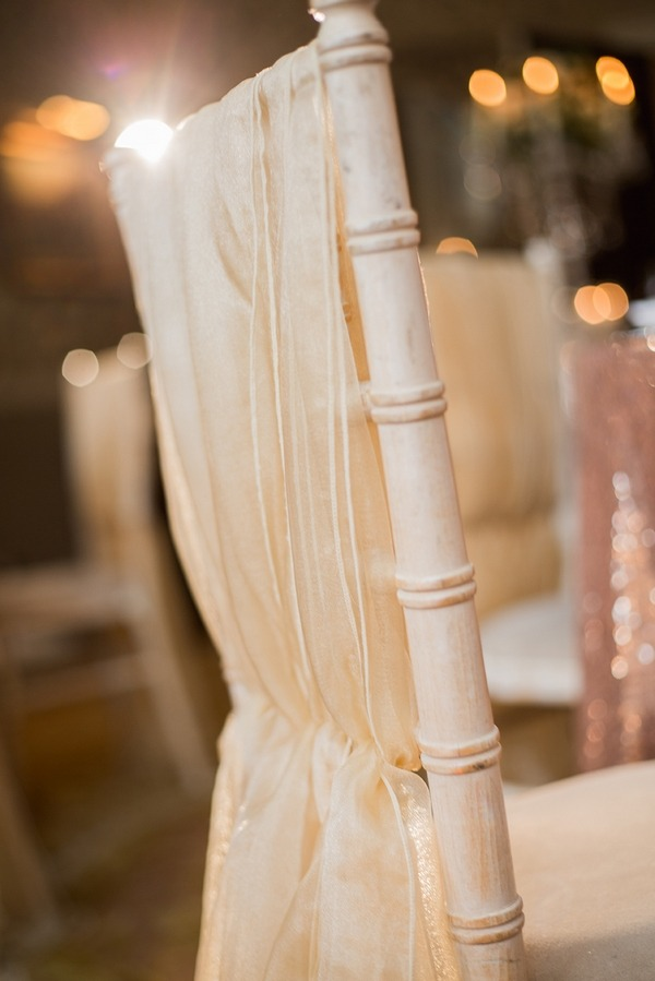 Wooden wedding chair with sash